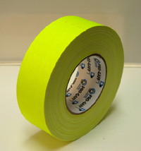 ProGaff GAFFER TAPE - FLUORESCENT-  Neon Yellow - 2  x 50yds
