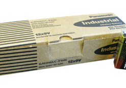 PANASONIC INDUSTRIAL ALKALINE BATTERIES 9 VOLT BATTERY (12/batteries per carton) - PI-9V - 6LR61XWA/C