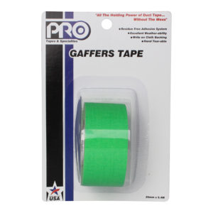 PRO GAFF 2 X 6YARDS POCKET TAPE - FL GREEN
