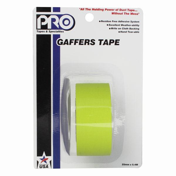 PRO GAFF 2 X 6YARDS POCKET TAPE - FL YELLOW