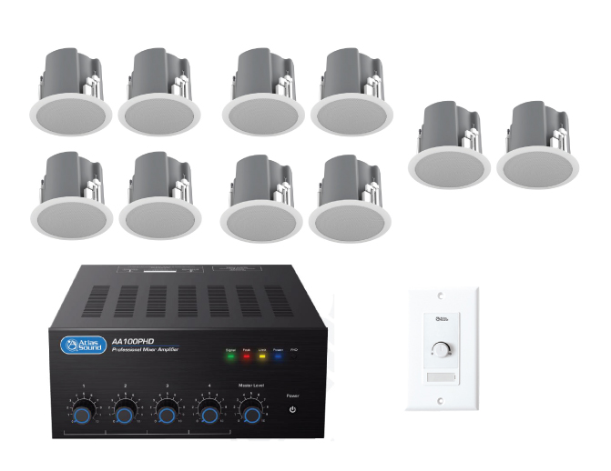 Restaurant Sound System With 10 Ceiling Speakers Jireh