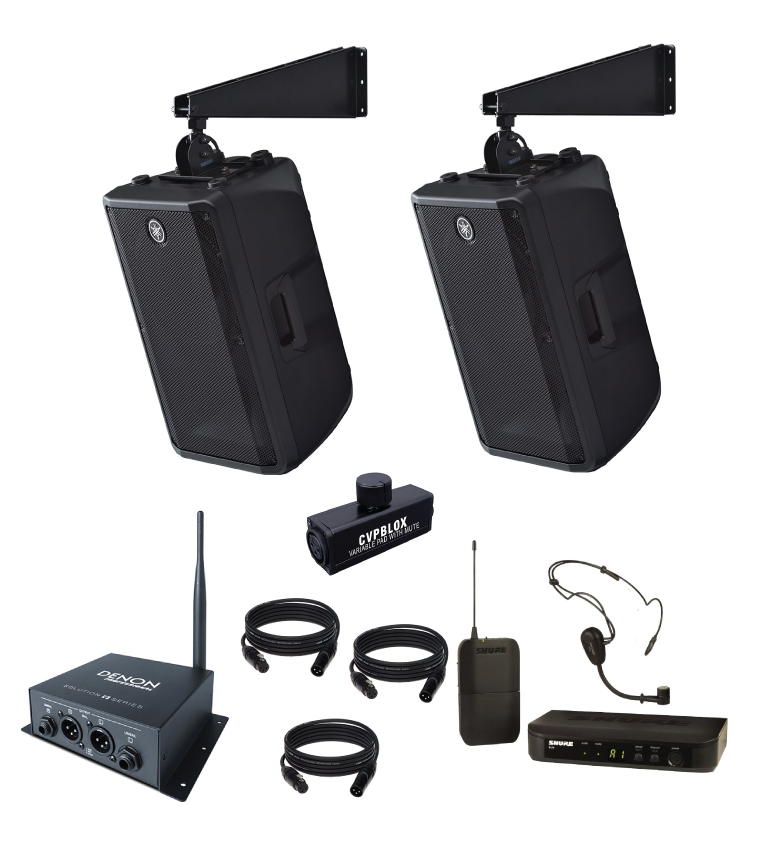 crossfit gym sound system with wireless microphone and bluetooth. Black Bedroom Furniture Sets. Home Design Ideas